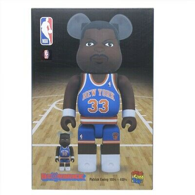 $175 • Buy Medicom BE@RBRICK NBA NY Knicks Patrick Ewing 100% 400% Bearbrick Figure Set