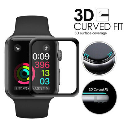 AU4.49 • Buy  3D Tempered Glass Screen Protector For Apple Watch 2 3 4 5 Size 38 40 42 44 MM