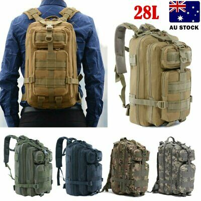 AU28.90 • Buy Waterproof  28L Military Tactical Backpack Rucksack Bag Camping Outdoor Hiking