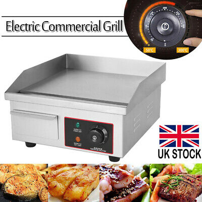 Commercial Electric Griddle Kitchen Hotplate BBQ Grill Bacon Countertop 220V UK • 61.98£