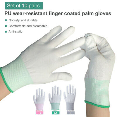 $9.99 • Buy 10x Anti Static Antiskid Gloves PC Computer Repair Labor Worker Protective Glove
