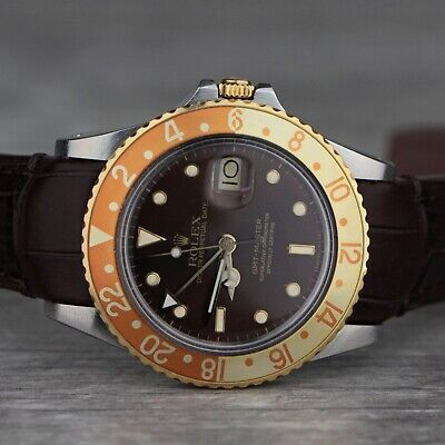 $ CDN13552.03 • Buy Rolex 1987 GMT Master Ref 16753 18K Gold & Stainless Automatic Swiss Watch