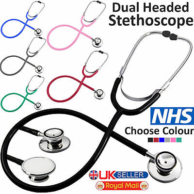 Pro Medical EMT Dual Head Stethoscope For Doctor Nurse Vet Student Health Care • 3.59£