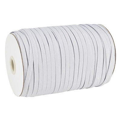 $ CDN29.47 • Buy 200yds/Roll Flat Elastic Cords Knit Thread Braided Sewing Bands Ropes White 5mm