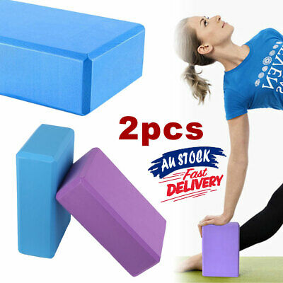 AU16.89 • Buy 2Pcs Yoga Block Brick Gym Sport Tool Foaming Fitness Practice Home Exercise