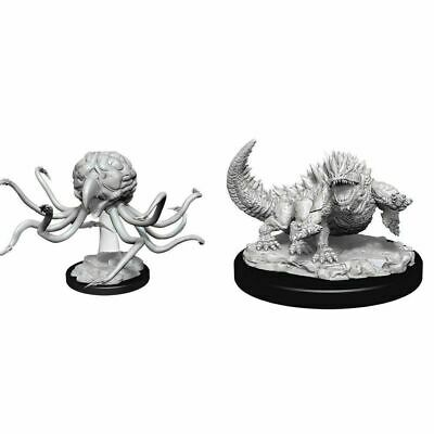 AU11.99 • Buy Dungeons & Dragons Nolzur's Miniatures: Basilisk And Grell - Unpainted