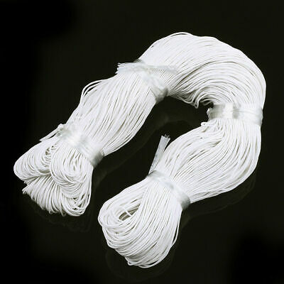 $ CDN15.84 • Buy 1Bundle Elastic Cords Round Stretchy Threads Rope Trims Whitesmoke 2mm 2.5mm 4mm