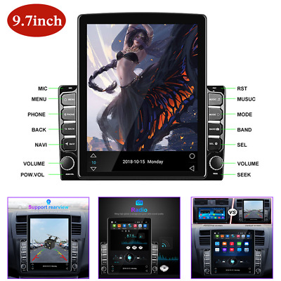 $ CDN218.68 • Buy 9.7in Vertical Screen HD Car MP5 Player Android 8.1 Navigation Radio Stereo GPS