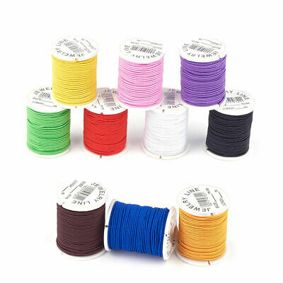 $ CDN14.03 • Buy 10 Rolls Random Elastic Cords Round Thin Stretchy Threads Rope Trimmings 1mm