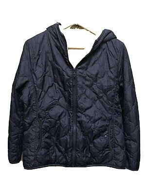 AU40 • Buy Uniqlo XL Navy Hooded Faux Fur Lined Quilted Jacket GUC Warm Winter Essential