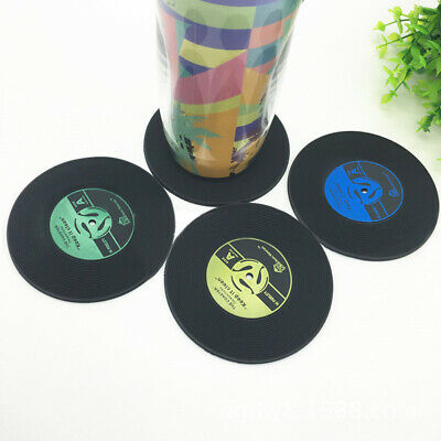 Hot Retro Vinyl Cup Mat Record Style CD Coaster Non-slip Coffee Drink Mat • 4.04£