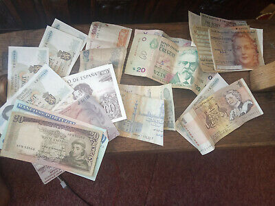 Selection Of Old Foreign Banknotes A Variety Of Countries  • 5£