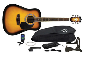 $ CDN99.99 • Buy GWL George Washburn Ltd Acoustic Guitar Pack + Tuner, Strings, Picks, Stand, Bag