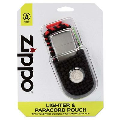$16.99 • Buy Zippo Lighter And Paracord Pouch Set Street Chrome Finish New In Box Gift