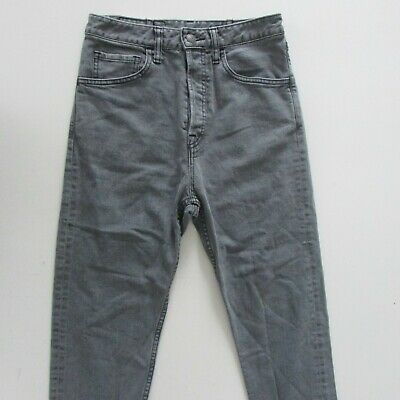 AU59.95 • Buy Bassike Jeans Womens Size W24-25 L24 Cropped Capri Slim Grey Denim Button Fly