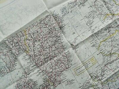 WWII Pilots RAF Silk Escape And Evasion Map Double Sided, Scandinavia 1940's • 235£