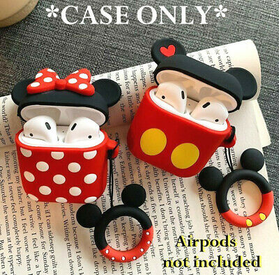 $ CDN9.49 • Buy For Airpods / Airpods Pro - Cartoon Minnie Mickey Ring Soft Rubber Silicone Case