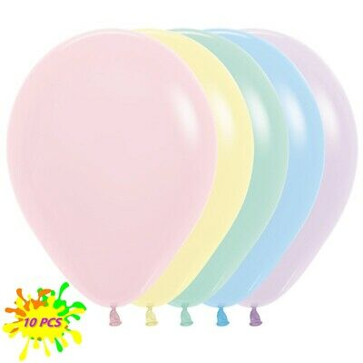 AU5.99 • Buy 12cm 30cm 45cm Pastel Latex Balloons Birthday Party Supplies Baby Shower Wedding