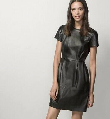 AU169 • Buy Stunning Massimo Dutti Leather Dress Size S