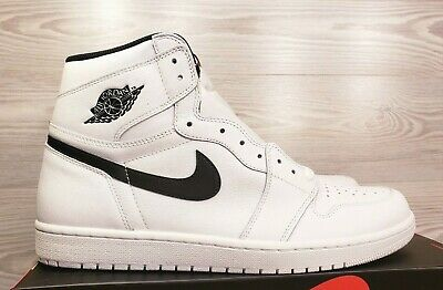 $149.23 • Buy Nike Air Jordan 1 Retro High OG White Black 'Yin Yang' 555088-102 Size 13.5