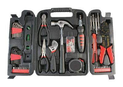 £29.99 • Buy DURATOOL Set Kit & Case 129 Pc Hammer Pliers Level Tape Measure Craft Knife Hex