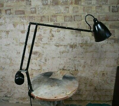 Vintage Admel Fingalite AnglePoise Industrial Work Light Clamp Machinists • 210£