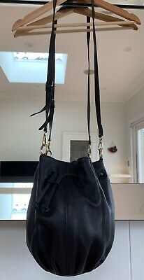 AU50 • Buy Oroton Black Leather Crossbody Bucket Bag