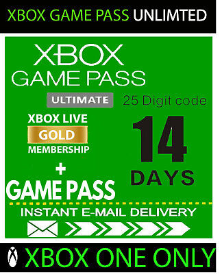 $1.95 • Buy XBOX LIVE 14 Day GOLD + Game Pass (Ultimate) Trial Code INSTANT DELIVERY