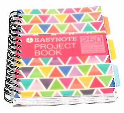 A4/5 Tabbed Project Book Office Notepad Spiral Bound 80gsm Lined Paper Notebook • 4.48£