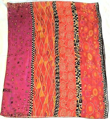$12.99 • Buy Musee D'orsay Sheer Multi Color 100%Silk Wrap/Scarf Made In France