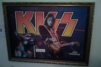 KISS Ace Frehley Destroyer Era Signed Poster Beautiful 1976 • 74.23£