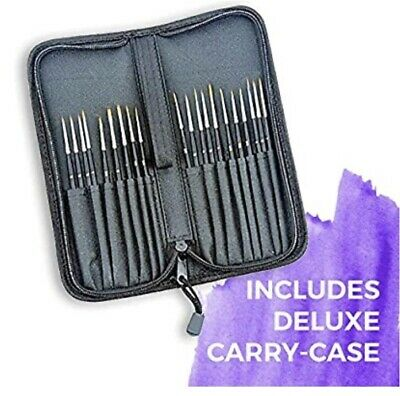 £19.99 • Buy 15 Artist Paint Brush Set With Case Fine Hobbies Craft Professional!!!