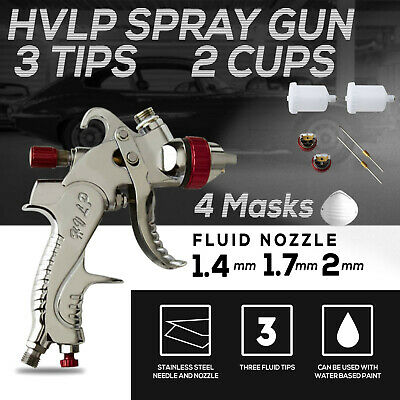 AU45 • Buy Spray Gun Paint Gun Gravity Feed HVLP  3 Nozzle 1.4mm 1.7mm 2mm Tips Included