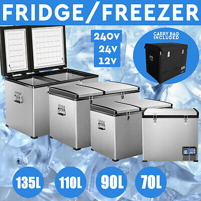 AU649 • Buy 70L, 90L, 110L, 135L Portable Fridge Freezer 12V/24V/240V ForCamping Car Caravan