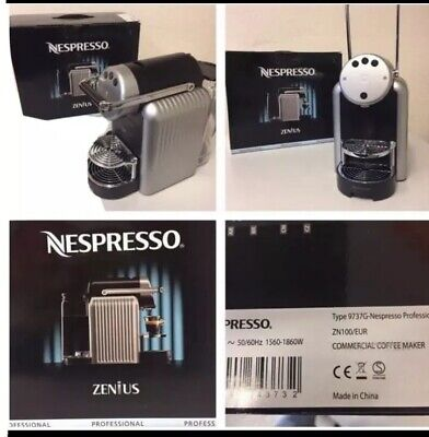 View Details Coffee Maker Of Capsules Office Nespresso Zenius Professional Black/Silver New • 190.00£