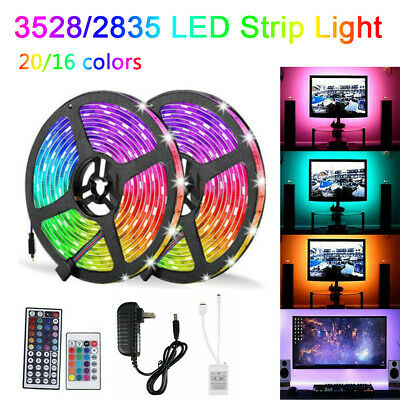 $17.95 • Buy 16FT 300 LED Flexible Strip Light SMD 3528 RGB Fairy Lights Room TV Party Bar