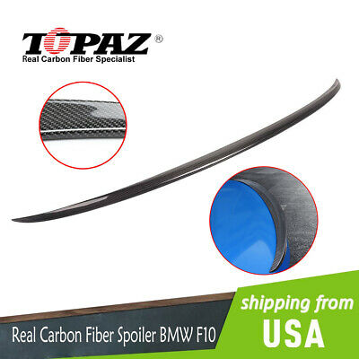 $103.97 • Buy Rear Carbon Fiber Trunk Spoiler Wing For BMW BMW F10 5 Series 535i 528i 11-16