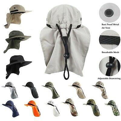 $11.99 • Buy Wide Brim Neck Flap Sun Cap Outdoor Protection Fishing Cap Hiking Hunting Hat