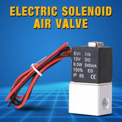 AU14.84 • Buy 1/4'' 2 Way Normally Closed Pneumatic Aluminum Electric Solenoid Air Valve 12V