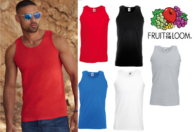 £3.89 • Buy Fruit Of The Loom Men's Valueweight Athletic Gym Training Vests Tank Top Sizes