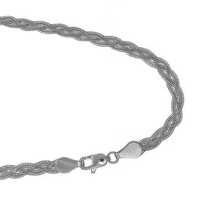 $208.23 • Buy 14k White Gold 3.5mm Braided Foxtail Chain Bracelet 7  Lobster Claw