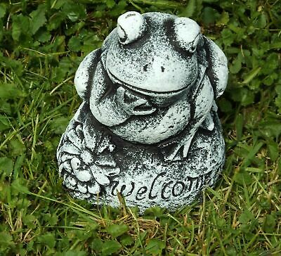 Latex Mould To Make Garden Ornament Statue  Welcome Frog Concrete Plaster New  • 29.99£