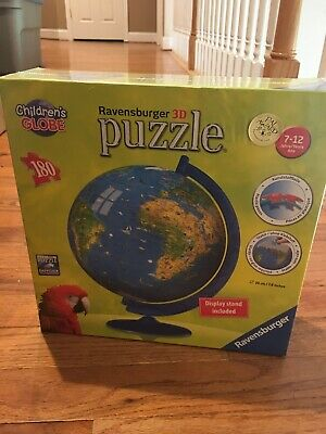 $9.99 • Buy Ravensburger 3D Puzzle Children's Globe Age 7-12 180 Piece Display Stand #123285