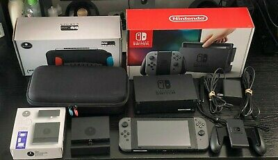 $375 • Buy Nintendo Switch 32GB Gray Bundle W/ Skull & Co GripCase And Jumpgate