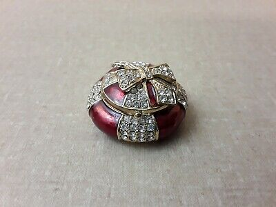 $14.46 • Buy Small Red Bejeweled Present Trinket Box