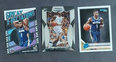 $16.05 • Buy Zion Williamson 2019-2020 Rookie Card RC X3 Lot Prizm Rated Rookie X-Pectations