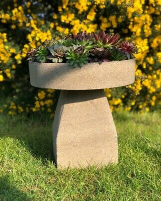 £49 • Buy Sandstone Mini Staddle Stone Planter/ VERY LIGHT/ Perfect For Succulents