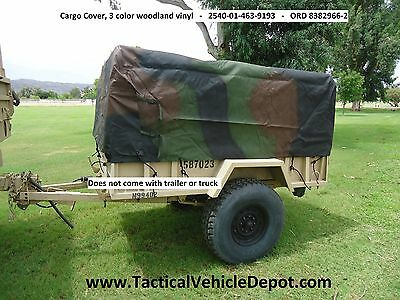 $700 • Buy M101 A1 A2 A3 3/4 Ton Trailer Side & End Racks, Bows And Top KIT - WOODLAND CAMO