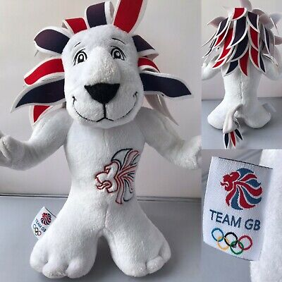 "Team GB Pride The Lion Mascot Plush Soft Toy Olympics Great Britain London 12"" • 3.99£"