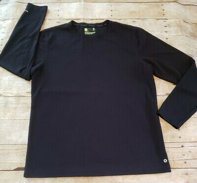 $5 • Buy Xersion Mens Large Athletic Long Sleeve Shirt Quick-Dri Breathable Black Thermal